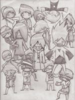 all characters Less of a Man by StyrochRiek