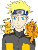Naruto: Good and Evil Kyubi by kittytreats