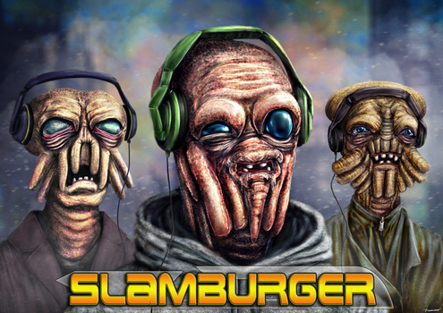 SlamBurger EP Album Cover by thesadpencil