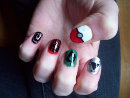 Pokemon Nails 2 by BlueBlasta