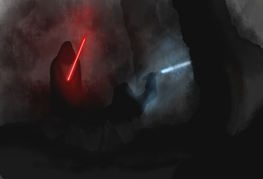 Sith vs Jedi by Volutional