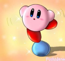 Kirby on a ball by Fushidane