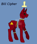 Bill Cipher's Pony Form by DarkBloodsFlame