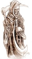 Grim Reaper Tattoo Design by TheMacRat