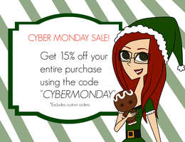 Cyber Monday Sale! by katidoodlesmuch