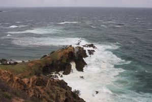 Cliffs at Byron Bay Australia by CathleenTarawhiti