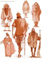 Character explorations... by Dattaraj