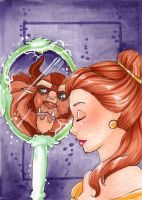 Belle Enchanted Mirror-ACEO by Faerytale-Wings
