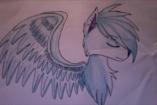 Winged Wolf by HowlingMoon984