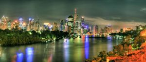 Brisbane Night Cityscape by shaun-johnston