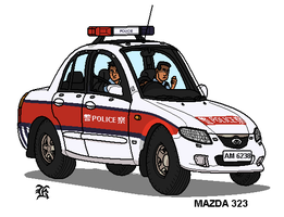 HK_Police_Car by darthpandanl