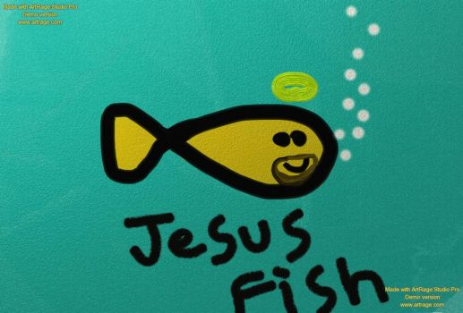 Jesus Fish by Omasinator