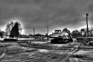 Backhoe BW by aseaofflames