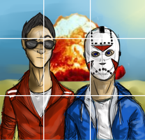 Vanoss and Delirious Selfie by o0JavaLlama0o