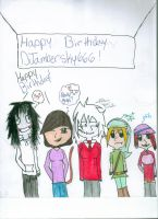 Happy Birthday DJambersky666 by LucarMoonshadow12345