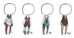 buyable outfits for ocs  o-o -Closed- by TribalPrince