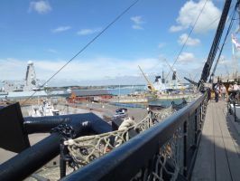 Portsmouth Dockyard from Victory. by photodash