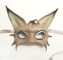 Cat Leather Mask freaky dark carnival by teonova