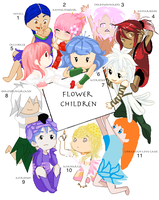 Flower Children Collab CLOSED by Astrid569