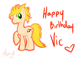 :BG: Vic as a pony by Amy-Oh