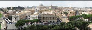 View from Castel Sant'Angelo by 1skylight1