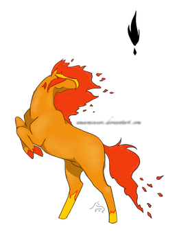 Fire Horse ~ by LuckCreations