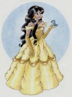 Jasmine as Belle by Chalaya
