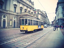 Old Tram in Milan by Koantiz