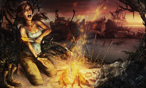 Lara Croft reborn -baptism of fire by Thylacinee