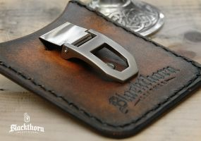 Money Clip-Wallet-1 by Blackthornleather