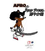 Afro The Hedgehog and Vivid Steel by CreativeArtist-Kenta