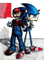 Mario Has Sonic's Back. by VVraith