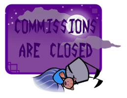 Commissions Are Closed Stamp by varletlegion