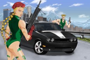 The Challengers Camy and Guile by shaotemp