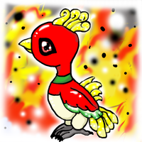 Baby Ho-oh Redone by LadyMaid-of-Pokemon