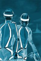 Daft Punk TRON Speed Paint by MrAnderchong