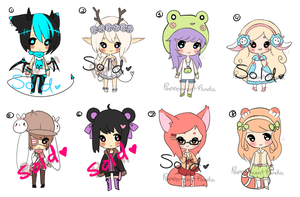 .:Collab:. Adoptables #1 [CLOSED] by PeppermentPanda