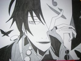 Black Haired Guy with Silver Eyes by UnknownArtist96