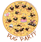Pug Party by CrispyLettuce