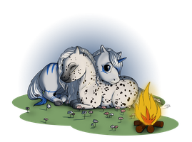 I'm gonna keep you warm... - Chibi Commission by Saerl