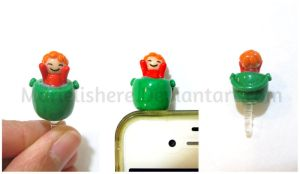 Ponyo Cell Phone Dust Plug Accessory by Marielishere