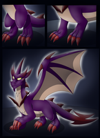 Comission: Malefor Suit Part 1 (Dragon TF) by Wolfeenix