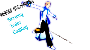 :.MMD:. Newcomer Norway in Kaito Cosplay! by bells123