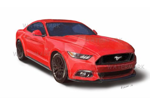 Mustang sketch by AndrewC001