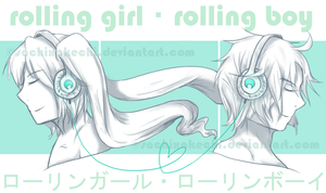 rolling girl rolling boy by sachixakechi