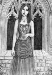 Gothic window and Femme by dashinvaine