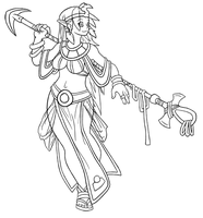 Queen of the Nile Lineart by Pokii-kun