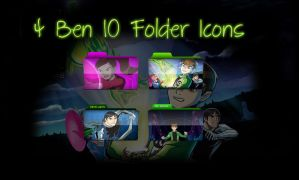 4 Ben 10 Folder Icons by therealkevinlevin