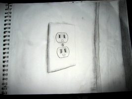 I drew an outlet. by GlitchMaster7