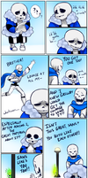 Monofell Valentine: Grillby to sans by PC-Doodle